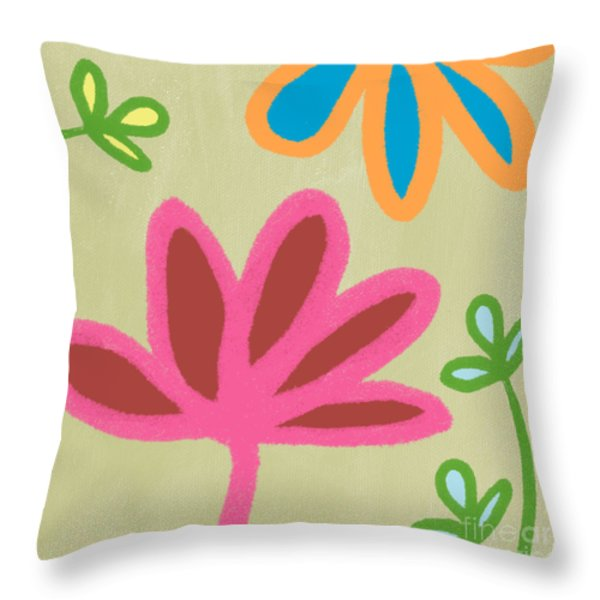 Bali Garden Throw Pillow by Linda Woods