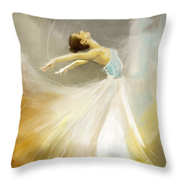 Ballerina  Throw Pillow by Corporate Art Task Force