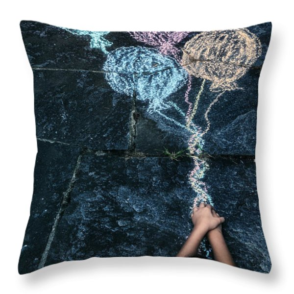 Balloons Throw Pillow by Joana Kruse
