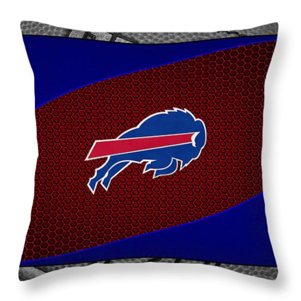 Buffalo Bills Throw Pillow by Joe Hamilton