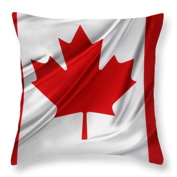 Canadian Flag  Throw Pillow by Les Cunliffe