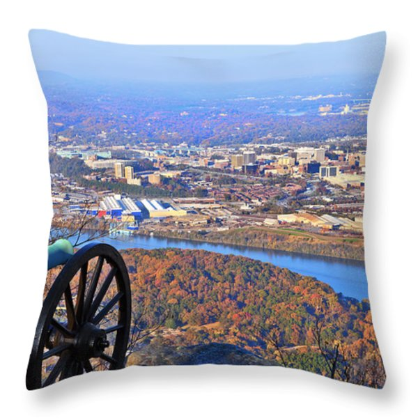 Chattanooga In Autumn Throw Pillow by Melinda Fawver