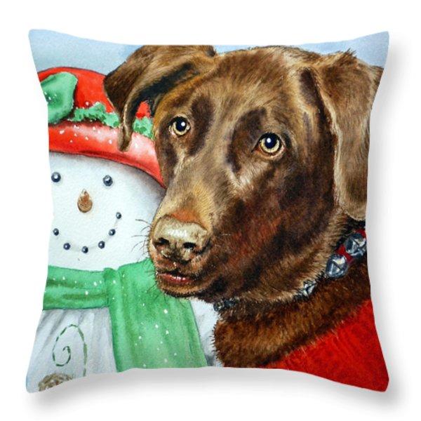 Christmas Throw Pillow by Irina Sztukowski