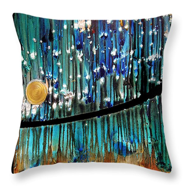 Colorful Abstract Throw Pillow by Sharon Cummings