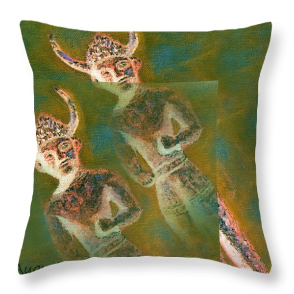 Cyprus Gods Of Trade. Throw Pillow by Augusta Stylianou