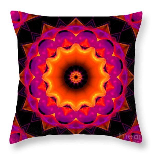 3 D Festival Throw Pillow by Hanza Turgul
