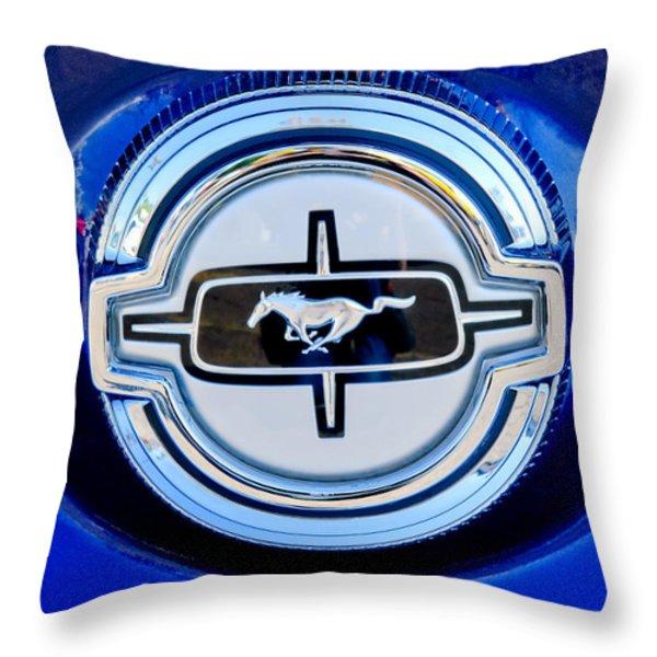 Ford Mustang Emblem Throw Pillow by Jill Reger
