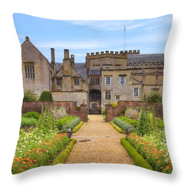 Forde Abbey Throw Pillow by Joana Kruse