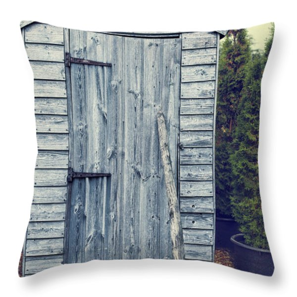 Garden Shed Throw Pillow by Amanda And Christopher Elwell