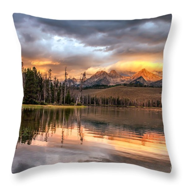 Golden Sunrise Throw Pillow by Robert Bales