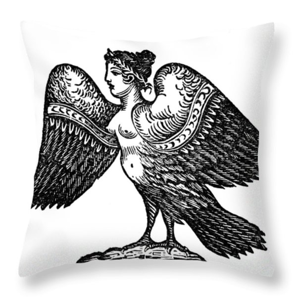 Harpy, Legendary Creature Throw Pillow by Photo Researchers