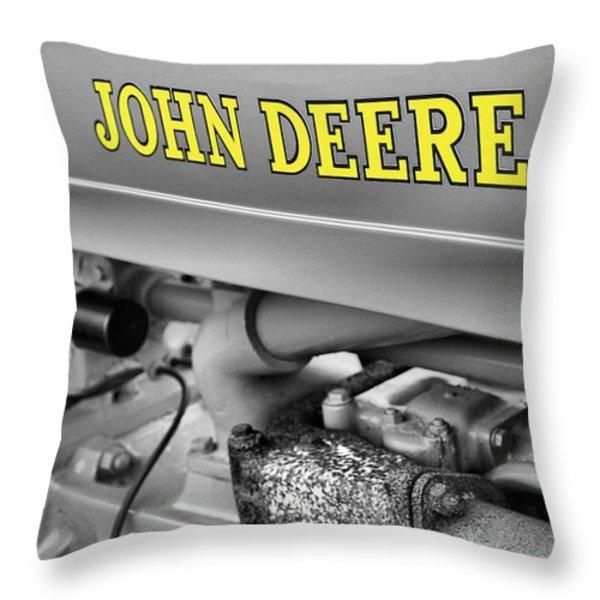 John Deere Throw Pillow by Dan Sproul