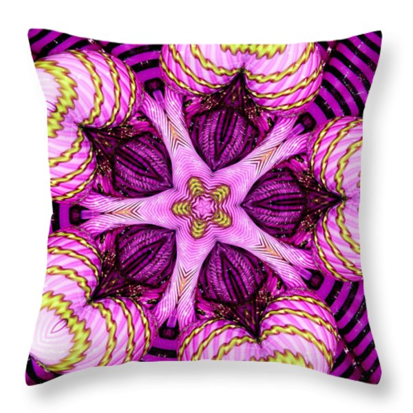 Kaleidoscope of Blown Glass Throw Pillow by Amy Cicconi
