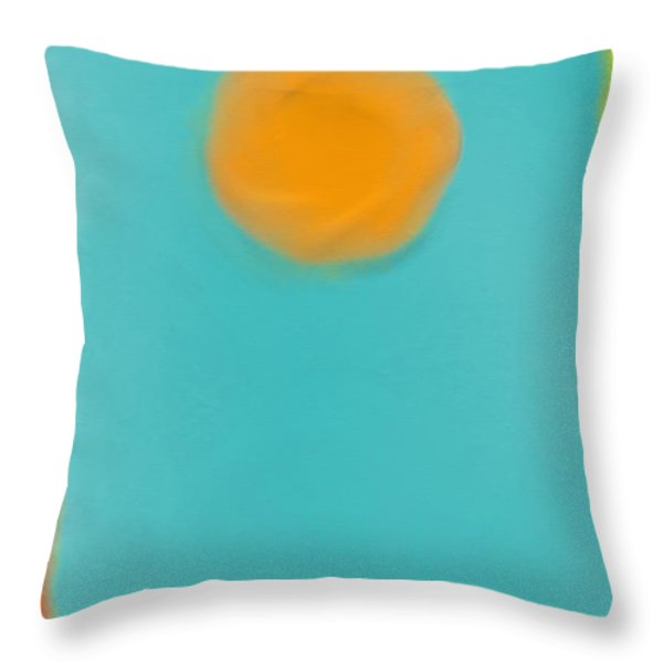 Lily Pond Throw Pillow by Anita Lewis