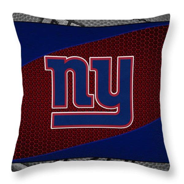 NEW YORK GIANTS Throw Pillow by Joe Hamilton