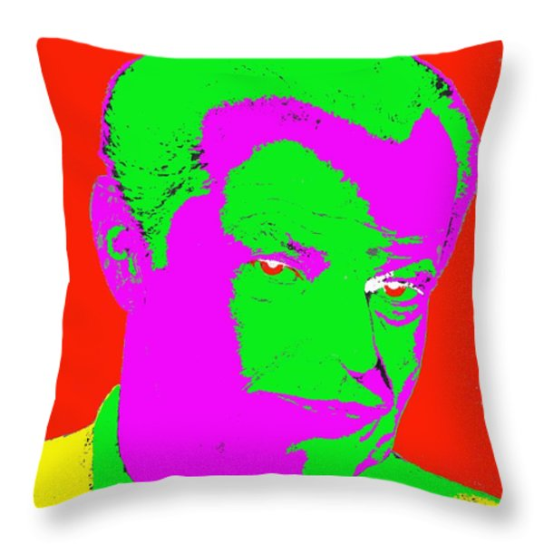 NICHOLSON Throw Pillow by Patrick J Murphy