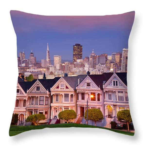 Painted Ladies Throw Pillow by Brian Jannsen