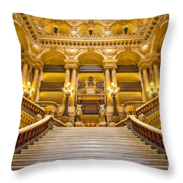 Palais Garnier Throw Pillow by Brian Jannsen
