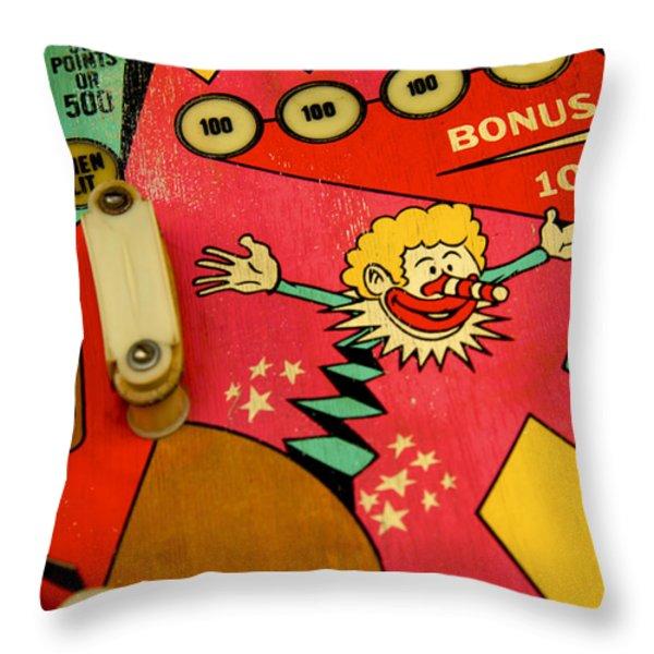 Pinball Machine Throw Pillow by Bernard Jaubert