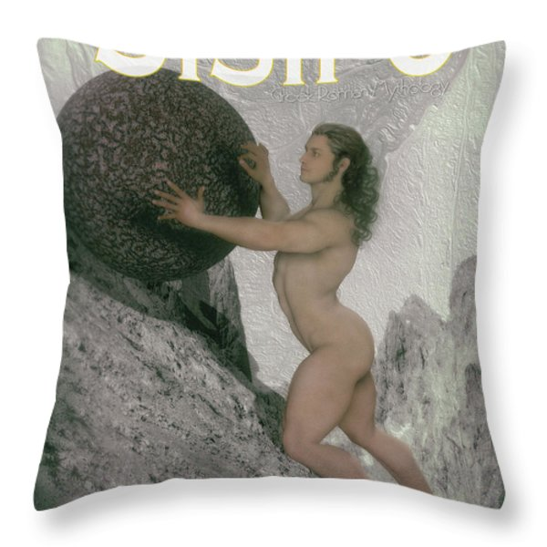 Sisyphus Throw Pillow by Joaquin Abella