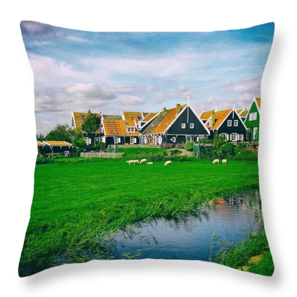 Summer in The Netherlands Throw Pillow by Mountain Dreams