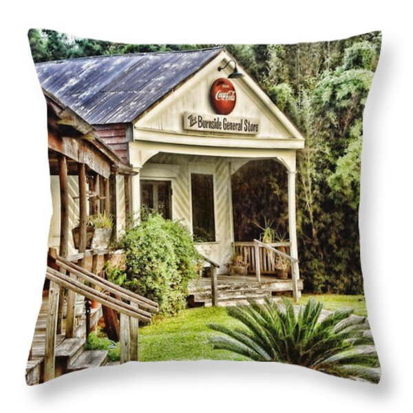 The Burnside General Store Throw Pillow by Scott Pellegrin