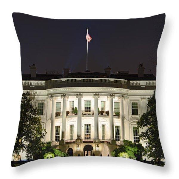 The White House Throw Pillow by John Greim