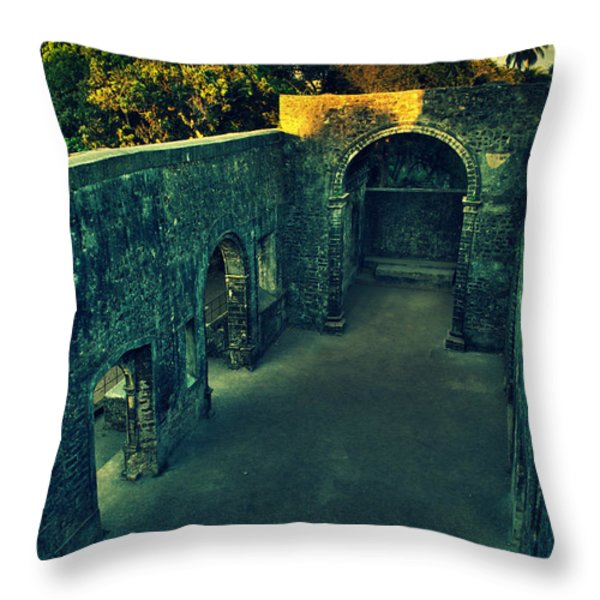 Vasai Fort Throw Pillow by Salman Ravish