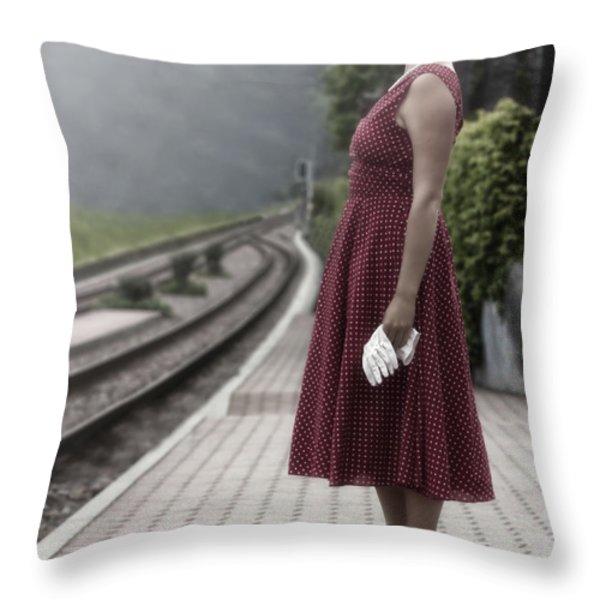 waiting Throw Pillow by Joana Kruse