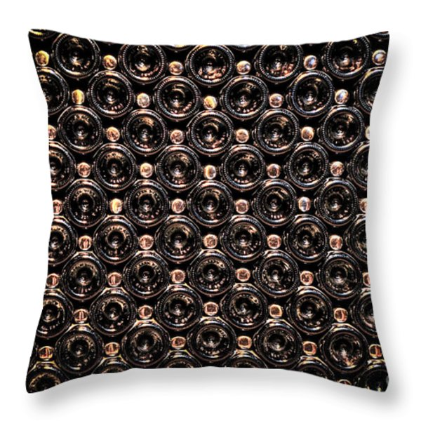 Wine bottles Throw Pillow by Elena Elisseeva