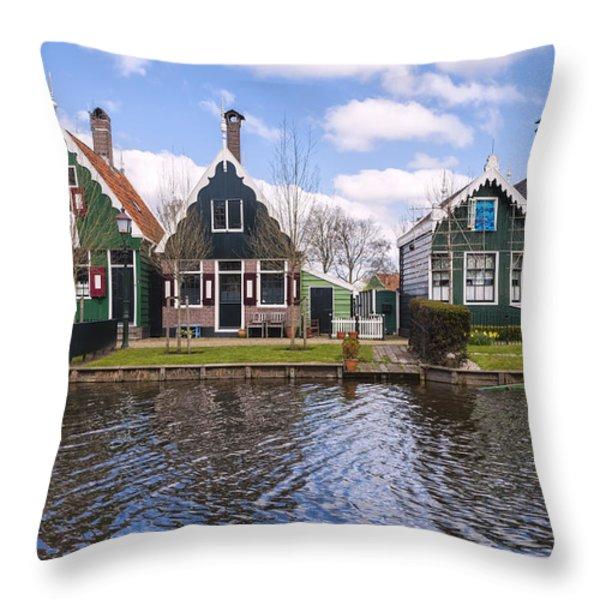 Zaanse Schans Throw Pillow by Joana Kruse