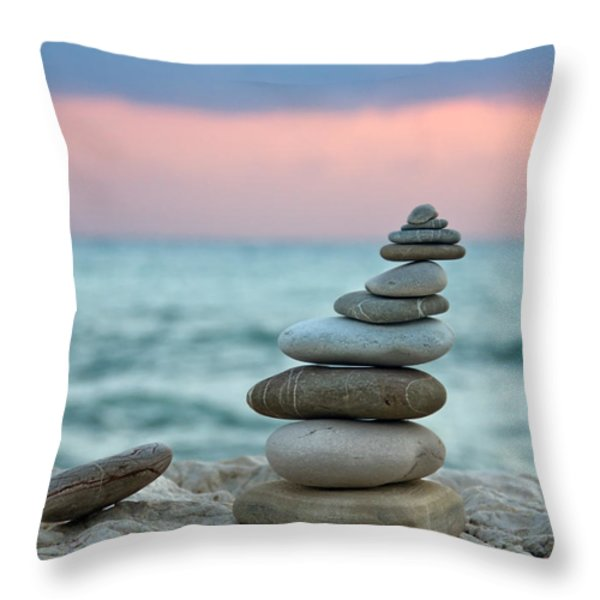 Zen Throw Pillow by Stylianos Kleanthous