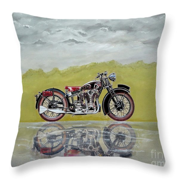 31 Matchless Silverhawk Throw Pillow by John Lyes