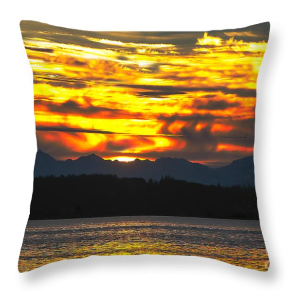 333 Marine Sunrise Throw Pillow by Robert Bales