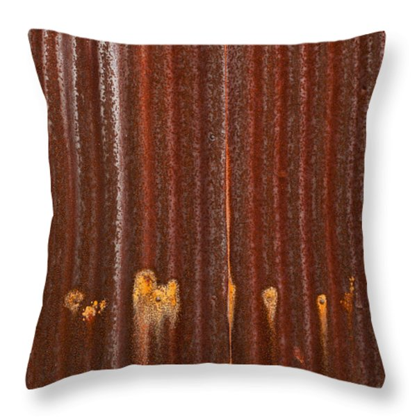 344 And Rust Throw Pillow by Gary Slawsky