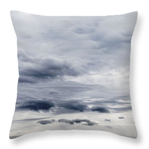 Clouds Throw Pillow by Les Cunliffe