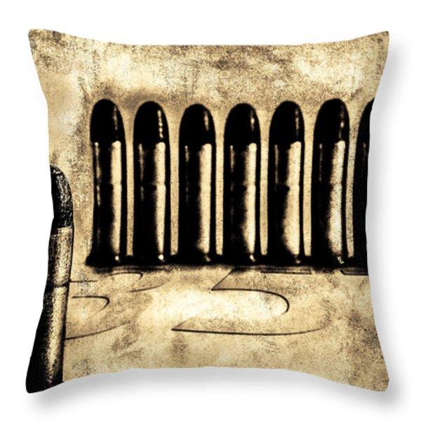 357 Throw Pillow by Bob Orsillo