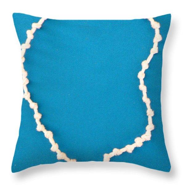 Aphrodite Gamelioi Necklace Throw Pillow by Augusta Stylianou
