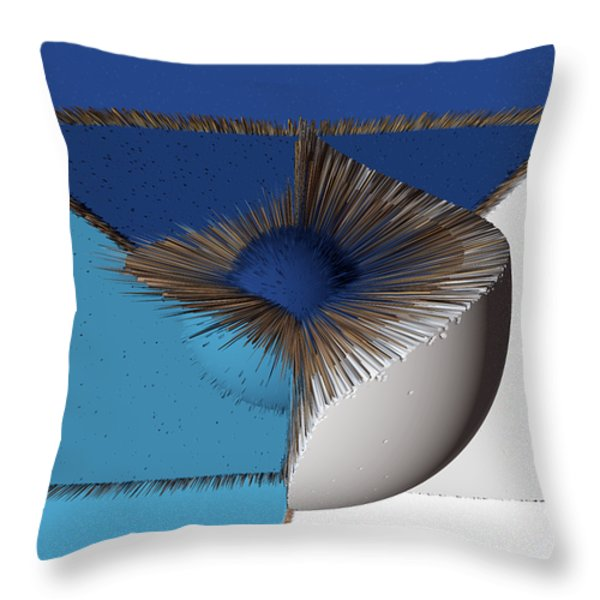 3d Abstract 19 Throw Pillow by Angelina Vick