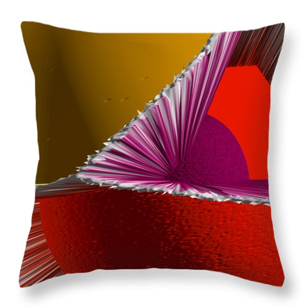 3D Abstract 5 Throw Pillow by Angelina Vick