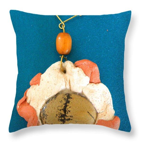 Aphrodite Earring Throw Pillow by Augusta Stylianou