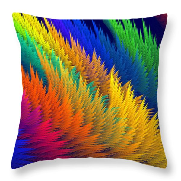 Computer Generated Abstract Fractal Flame Throw Pillow by Keith Webber Jr