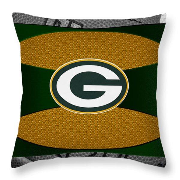 GREEN BAY PACKERS Throw Pillow by Joe Hamilton