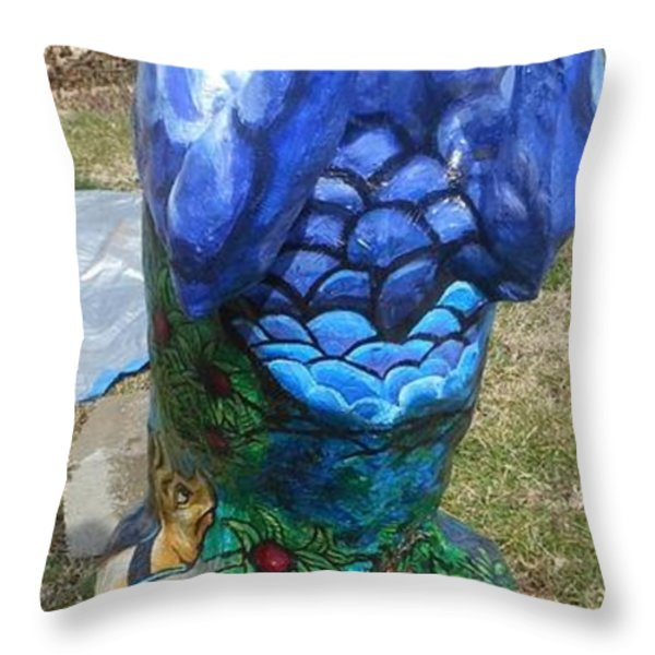 Hunt For The Unicorn On A Full Moon Throw Pillow by Genevieve Esson