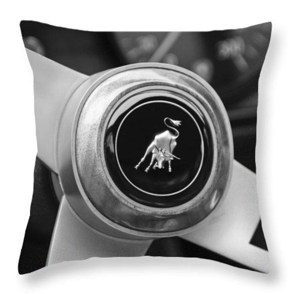 Lamborghini Steering Wheel Emblem Throw Pillow by Jill Reger