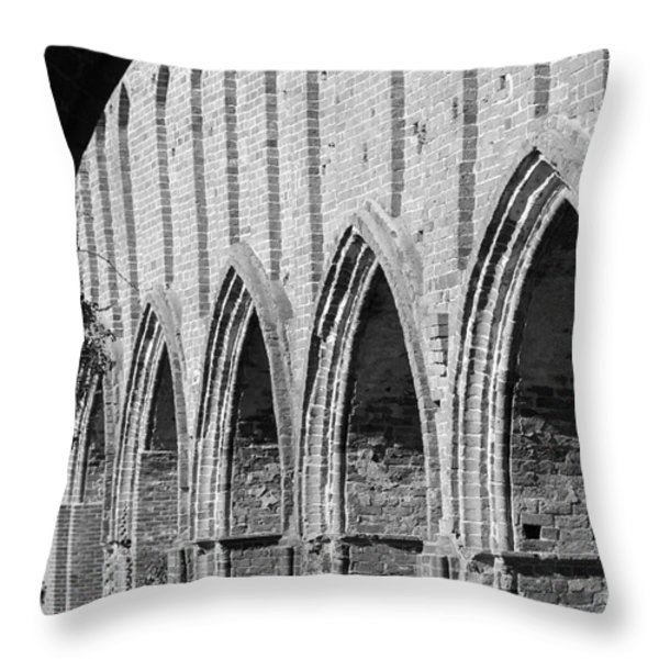 Monastery Ruins Throw Pillow by Four Hands Art