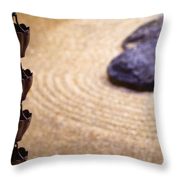 Morikami Japanese Garden And Museum Throw Pillow by Amy Cicconi