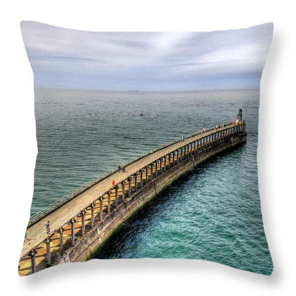 Pier Throw Pillow by Svetlana Sewell