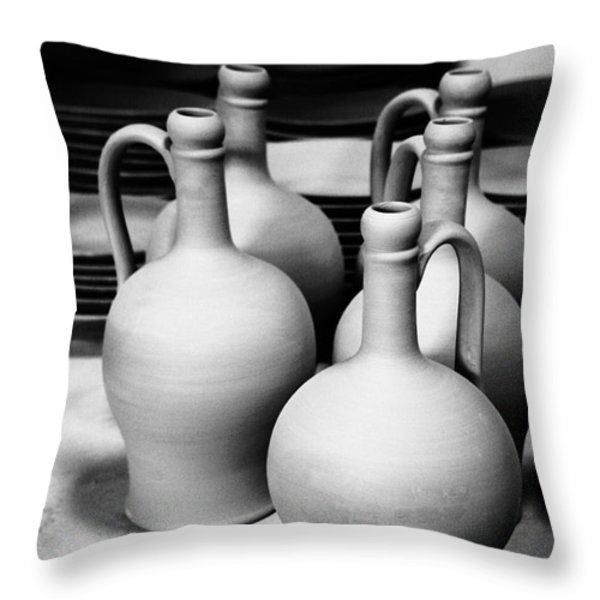 Pottery Throw Pillow by Gaspar Avila
