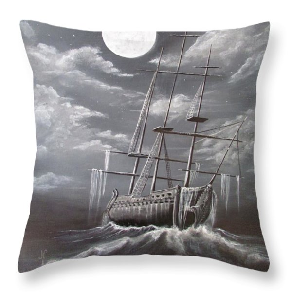 Storm Corrosion Throw Pillow by Christine Cholowsky